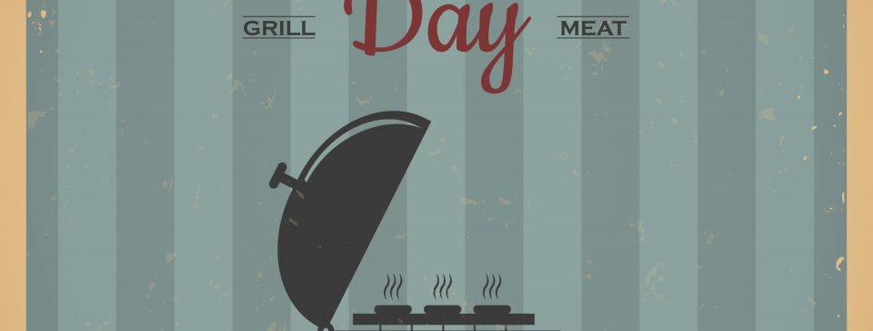 Happy Memorial Day. Barbecue weekend. Vintage barbecue poster design. BBQ