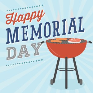 Happy Memorial Day - Cookout Barbecue BBQ Grill Vector